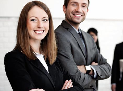 hombre y mujer selección de personal